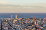 Barcelona cityscape from the Carmel's bunkers