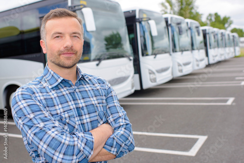 man in the coach terminal