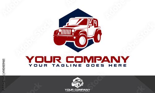 Logo samochodu, logo motoryzacyjny, szablon logo