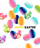 A set of abstract chocolate easter eggs. vector background illustration