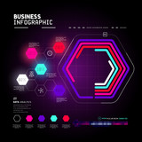A detailed and technical business graph infographic element. Vector illustration
