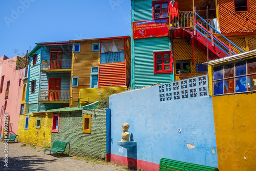 Foto op Aluminium Buenos Aires Colorful houses in Caminito, Buenos Aires