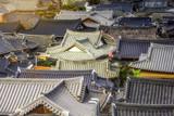 Korea roof Hanok village at Jeonju,South Korea..