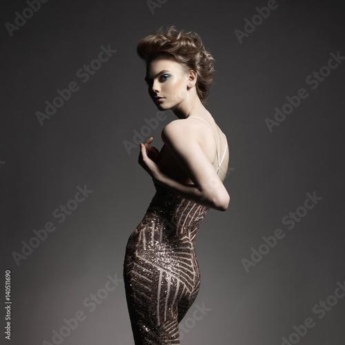 Fotobehang Women Art Elegant lady
