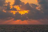 Beautiful evening sunset on Mediterranean sea