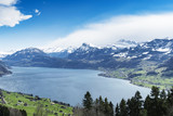 Lake lucerne top view Buergenstock