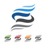 letter s, vector logo design
