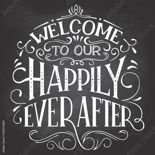 Plakát Welcome to our happily ever after