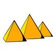 Egyptian pyramids icon cartoon