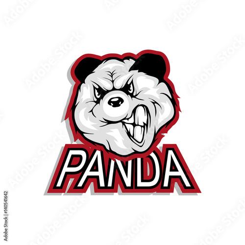 Keuken foto achterwand Vlinders in Grunge Panda logo