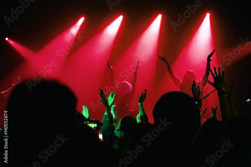 audience at a concert at a nightclub Poster