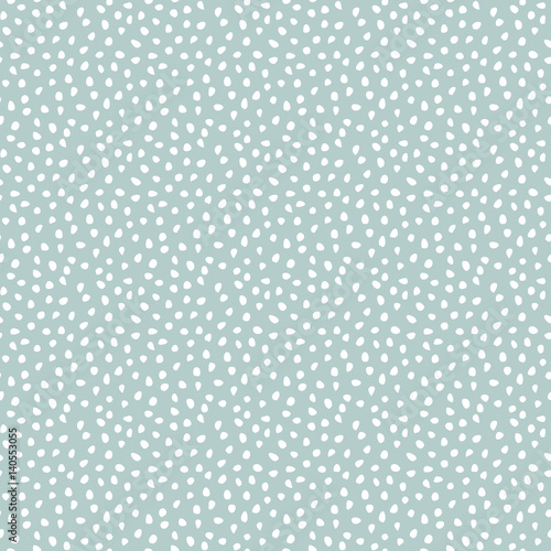 Cotton fabric Seamless vector background with random white elements. Abstract ornament. Dotted abstract pattern