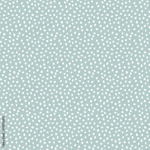 Stoffe zum Nähen Nahtloser Vektor Hintergrund mit weißen Zufallselemente. Abstrakten Ornament. Gepunktete abstrakte Muster