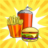 Fototapety Fast food vector illustration