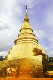 Group of Chedi, Stupa at Wat Phra Singh, Thailand.