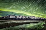 Aurora on Ice Star Trail