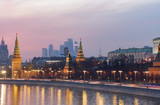 An amazing sunset over Moscow, Russia