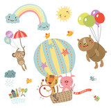 Cute characters. Flying animals
