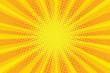 yellow orange sun pop art retro rays background