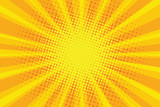 Fototapety yellow orange sun pop art retro rays background