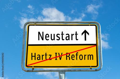 Neustart/Hartz IV Reform Poster