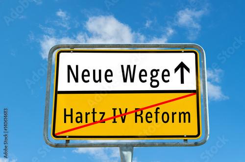 Neue Wege/Hartz IV Reform Poster