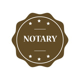 Notary stamp illustration