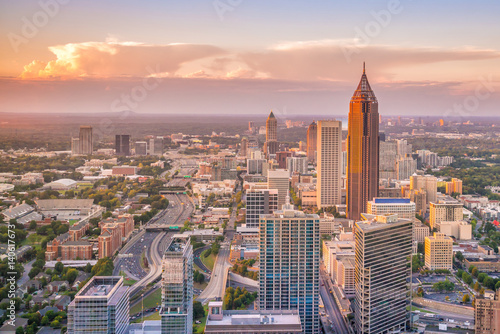 Skyline of Atlanta city