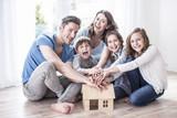 Fototapety Familie Traum vom Haus