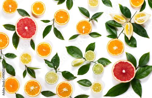 Fototapeta Background of citrus fruits