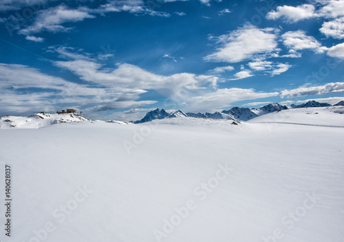 Plakat Winterlandschaft/Arlberg