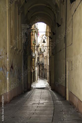 Cagliari: scorcio di  Via Corte D'appello. all'interno del quartiere Castello - Sardegna