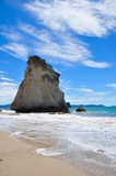 rock on the beach at cathedral cove