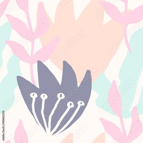 Abstract Botanical Pattern - 140663250