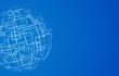 Vector modern techology concept background. global world backdrop.