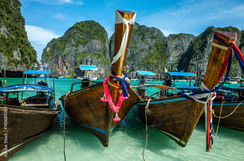 Poster Boats in the archipelago of Phi Phi island, Phuket