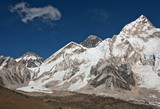 View of the Mt. Everest and Nuptse - Nepal