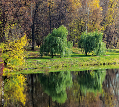 Paints of autumn in the izmailovo park - Moscow