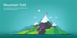 Fototapety Mountain landscape. Mountain trail