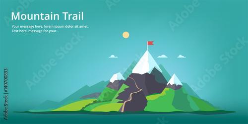 Mountain landscape. Mountain trail