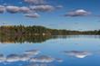 Sky reflection on a calm lake