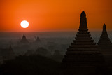 Old Bagan Landscape at Sunset
