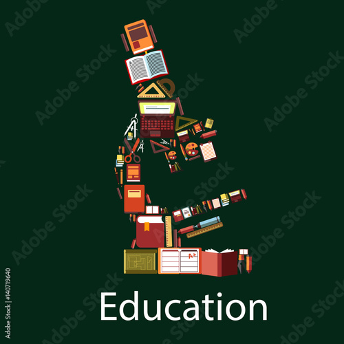Education and science microscope symbol