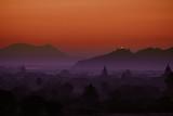 Old Bagan Landscape at Sunset