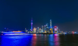 Splendid night view of Shanghai