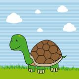 Pet design over landscape background, vector illustration