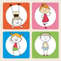 Kids design over beige background, vector illustration