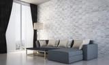 New scene 3d rendering interior design of living room