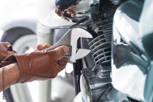 Poster Motorcycle mechanic,Technician