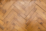 Herringbone pattern wooden floor